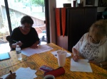 Marlene and Julie writing